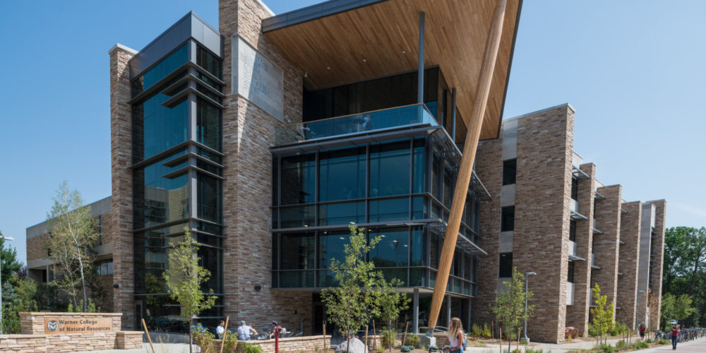 The recently completed Michael Smith Natural Resources Building.