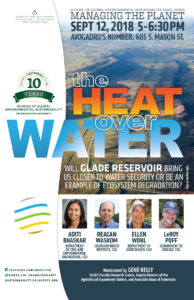 The heat over water event poster