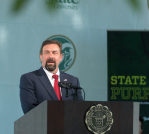 Colorado State University President Tony Frank delivers his ninth annual Fall Address, September 20, 2017.