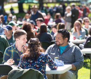 Students, faculty and staff enjoy the annual Fall Address and University Picnic on the Colorado State University Oval, September 20, 2017.