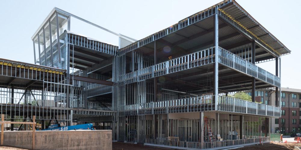 The Richardson Design Center building under construction