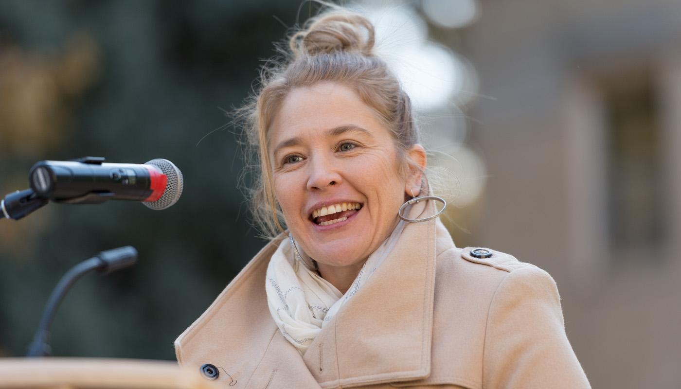 Amy Pezzani at podium