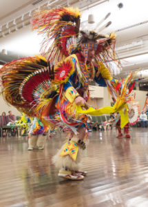 Dancer at a past pow wow