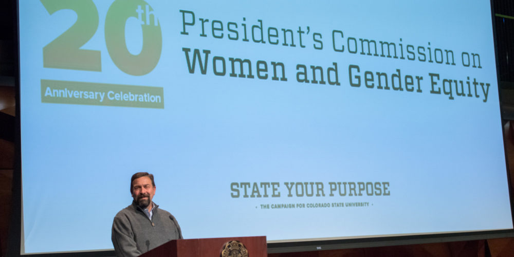 Tony Frank at 20th anniversary of Commission on Women and Gender Equity