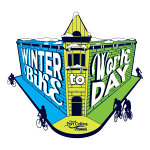 winter bike to work day logo