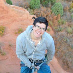 Franklin Alvis rock climbing