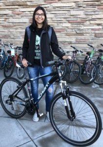 Winner with bike
