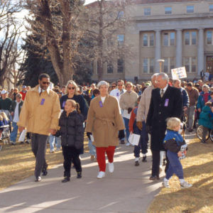 Al Yates at 1998 MLK Day march