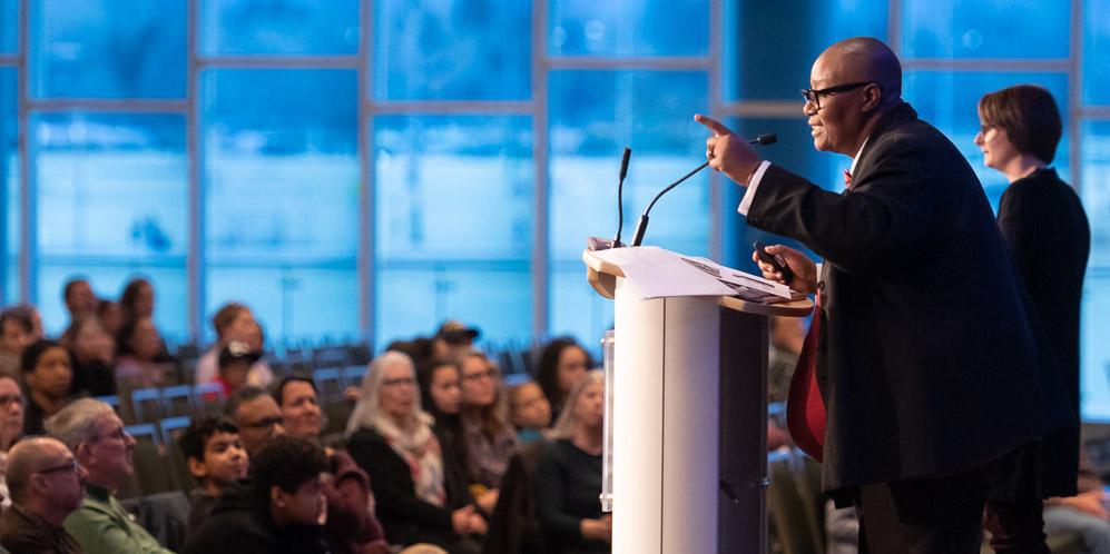 Fleurette (Flo) King delivers the keynote address
