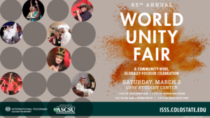 World Unity Fair event poster
