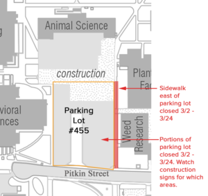 Animal Sciences Building Parking Lot Map