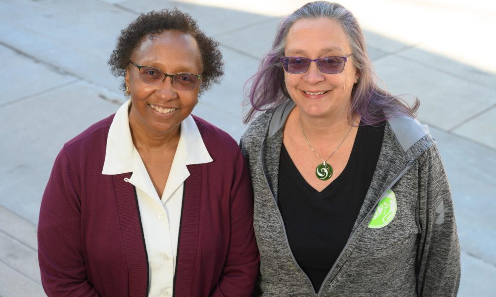 Blanche Hughes and Sue James
