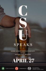 CSU speaks event poster