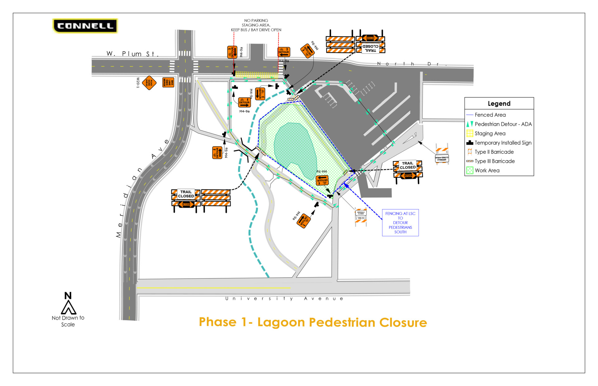 Map of Lagoon trail closure