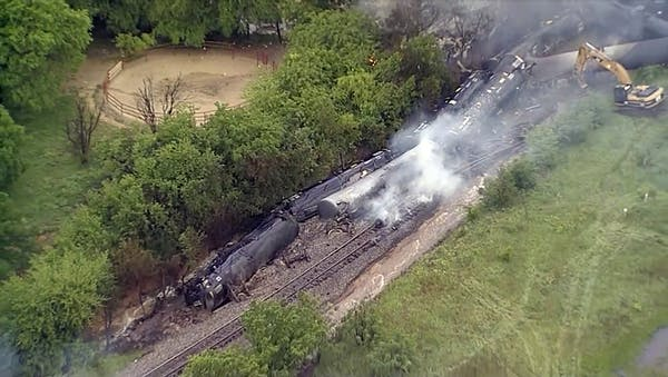 Train derailment in Texas
