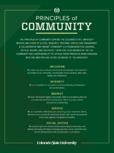 CSU Principles of Community