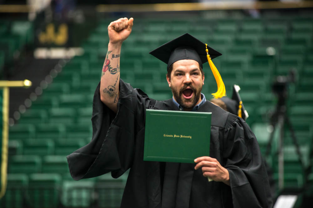 Graduate with diploma in Moby Arena