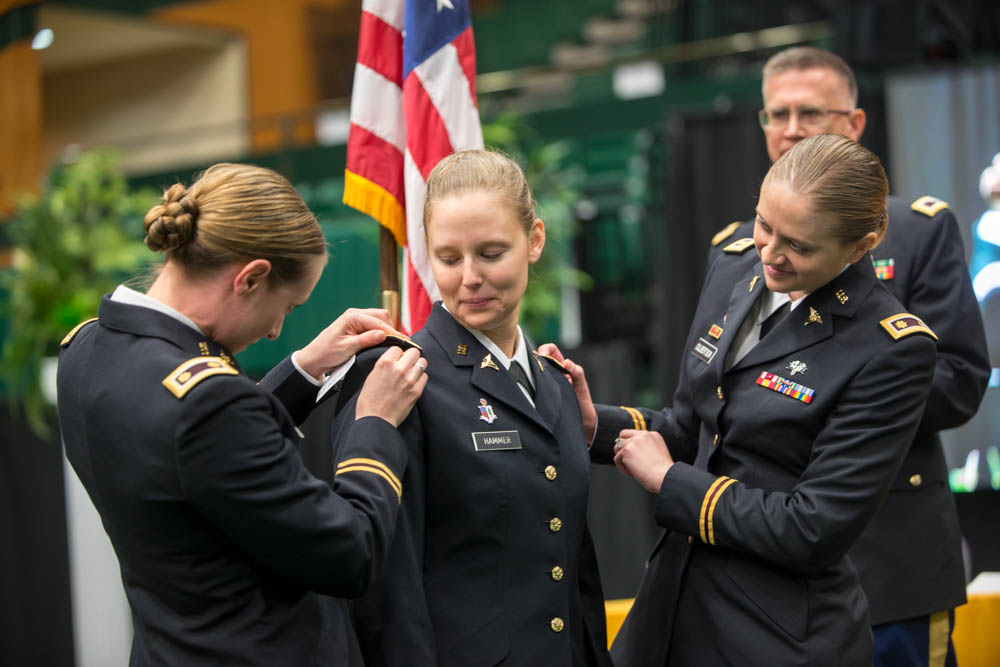 ROTC graduates become Army officers at commissioning