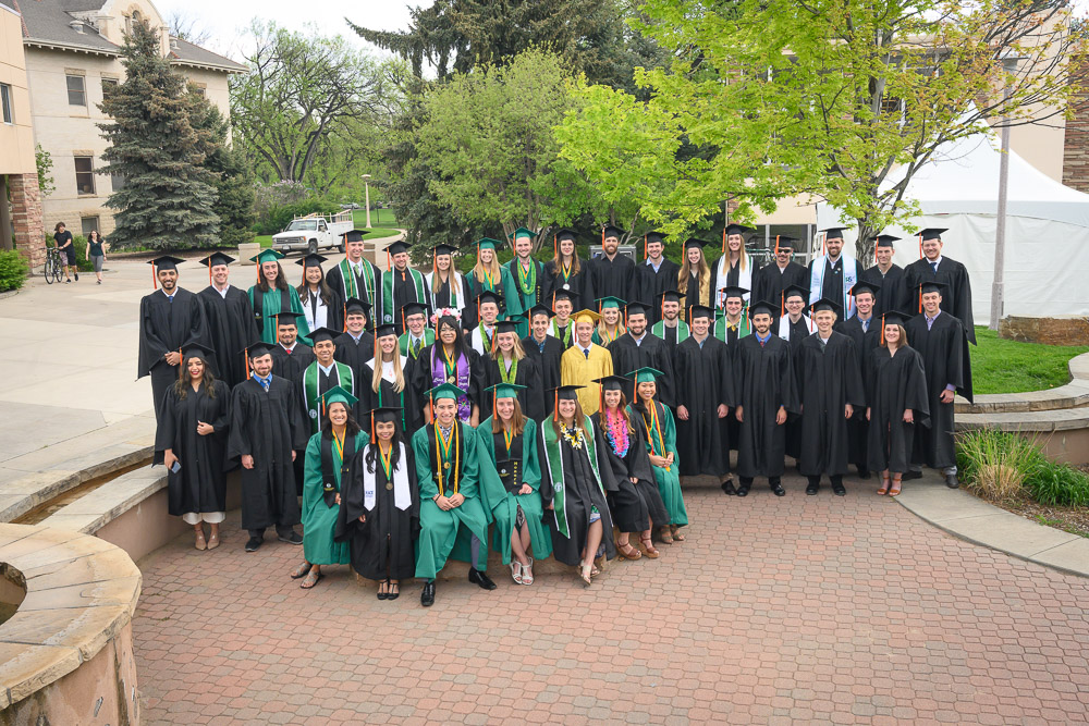 Group photo of Civil and Environmental Engineering graduates