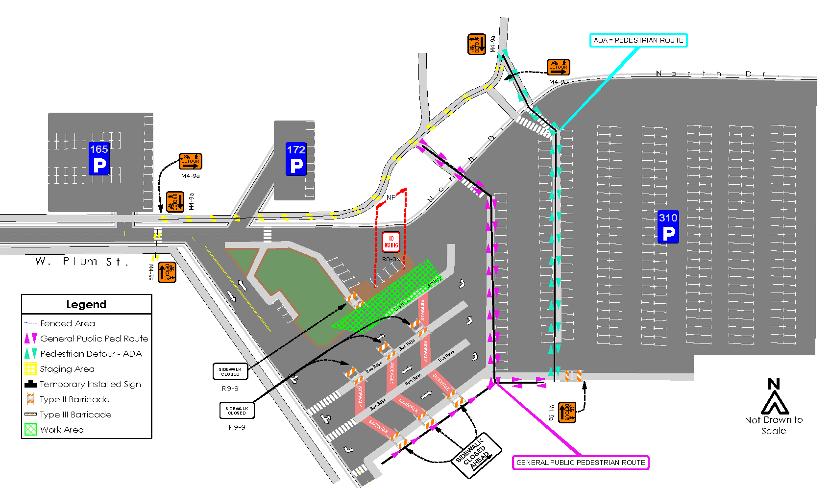 LSC Transit Center bus lanes/stops
