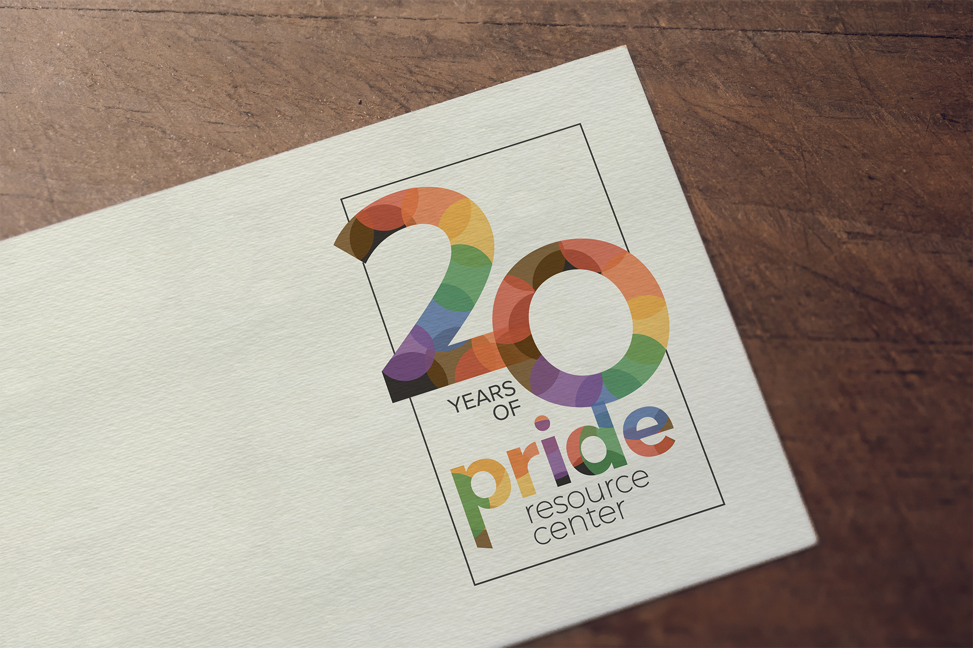 Pride Resource Center 20-year logo