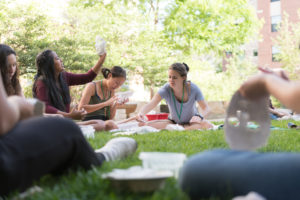 students make masks at CSU's Honors Summer Institute