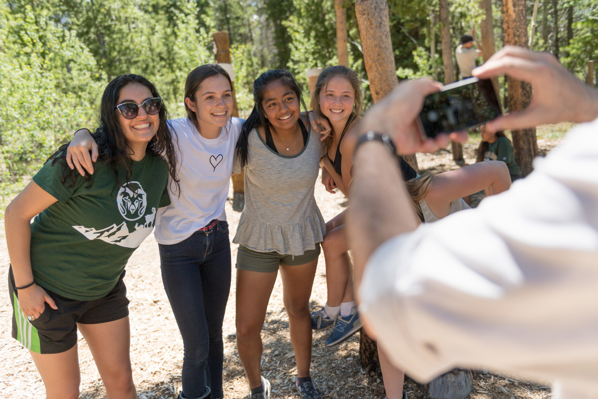 a group of high school students pose for a photo at CSU's Mountain Campus