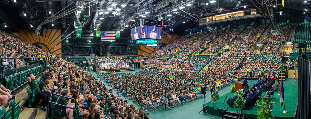 The audience at Moby Arena
