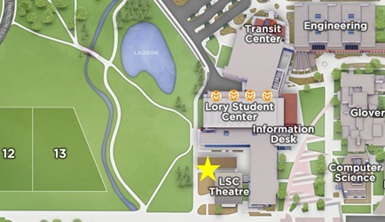 Map of Employee Appreciation event with the LSC theater starred
