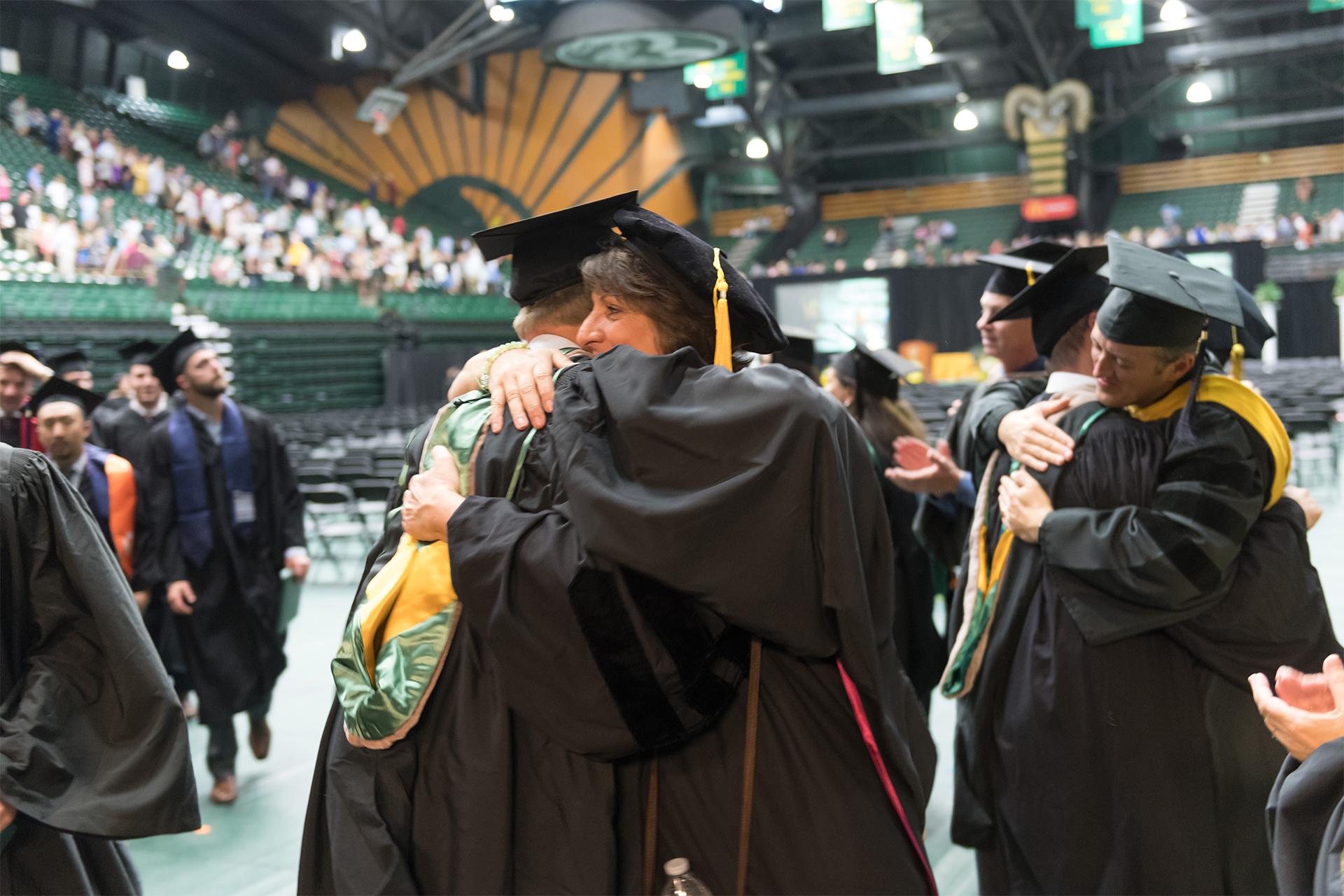 Margarita Lenk at CSU graduation
