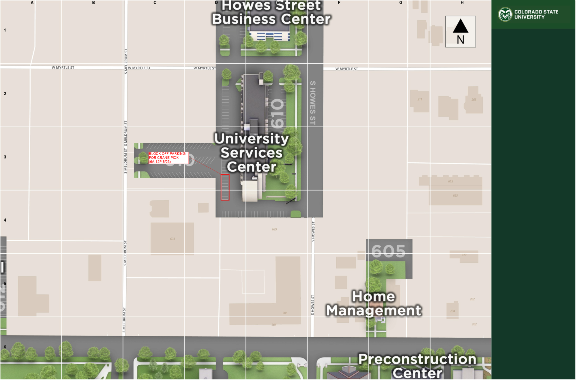 USC Parking Outage Map