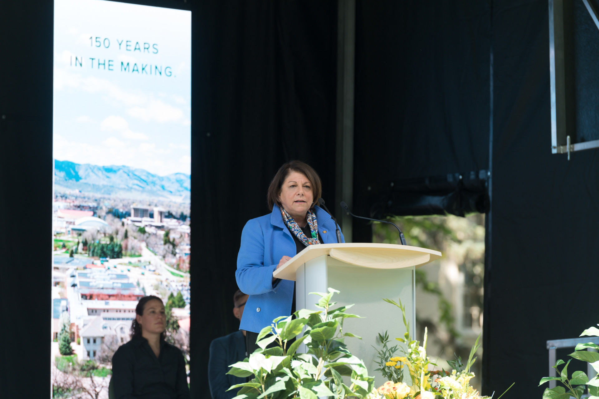 Colorado State University President Joyce McConnell delivers her first Fall Address, September 19, 2019.