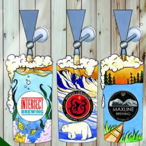 beer taps for the Global Biodiversity Center's brews and bluegrass event