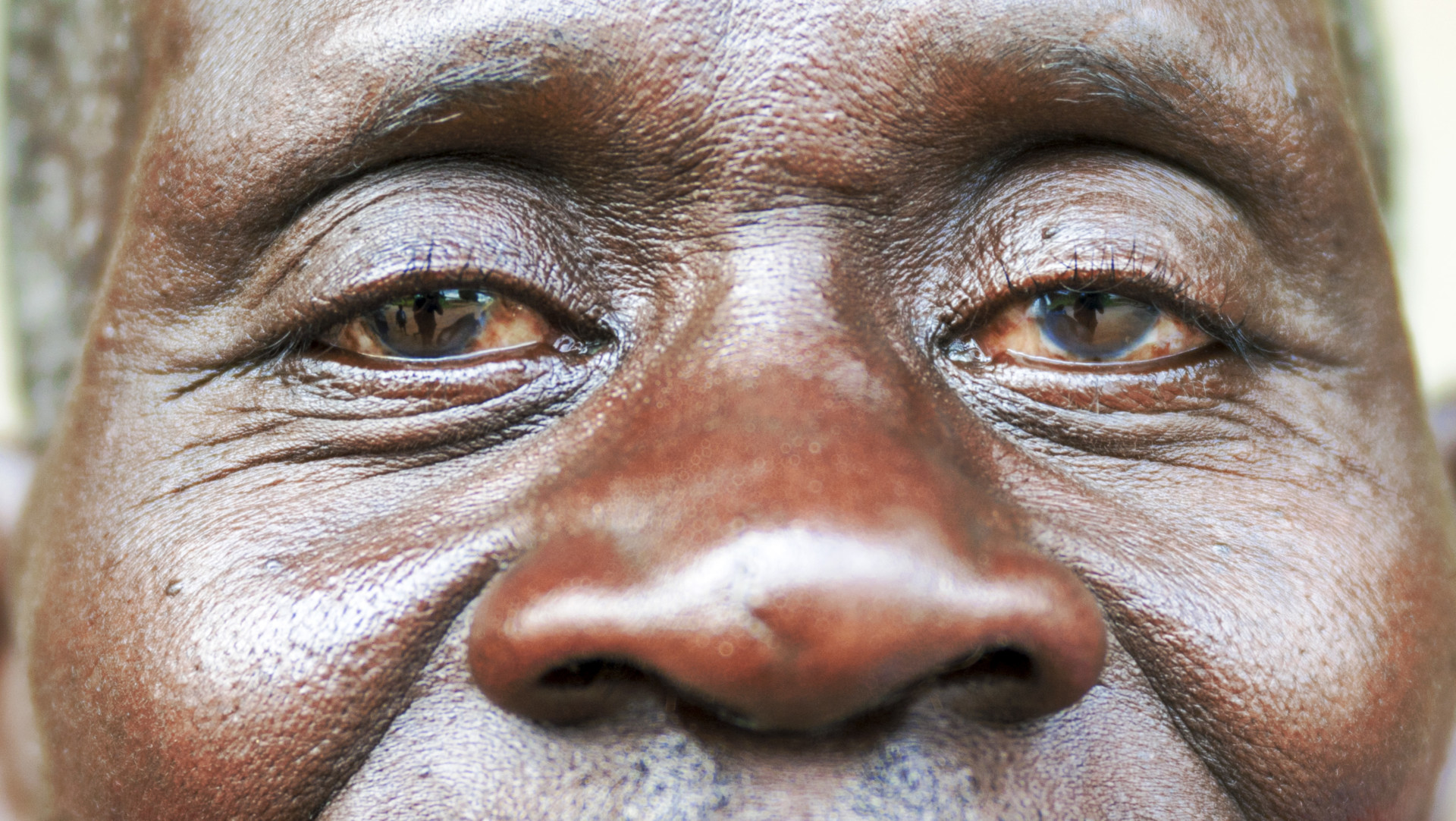 Close-up of man's face