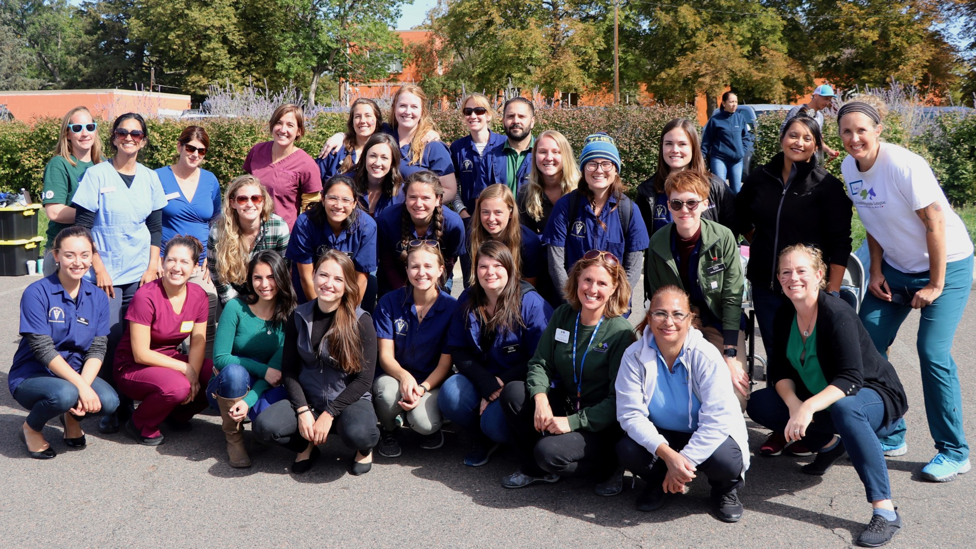 Student-veterinarians from CSU's College of Veterinary Medicine and Biomedical Sciences pose for a group photo at the 2019 Focus on Health Community Clinic.