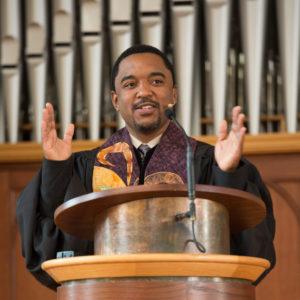 Pedro Silva preaching
