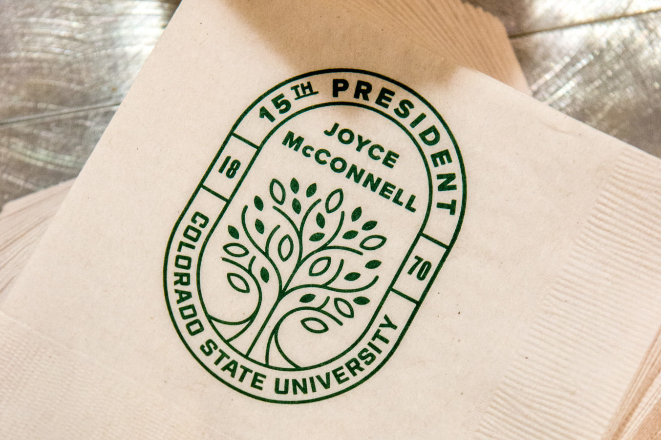 Napkins with McConnell's seal