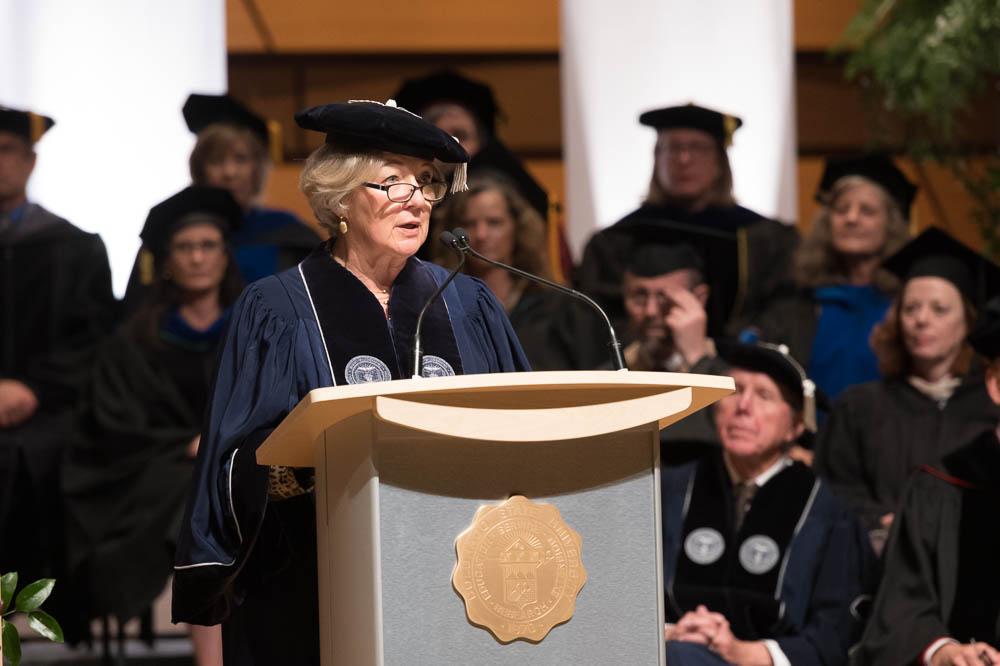 Nancy Tuor at Joyce McConnell Investiture