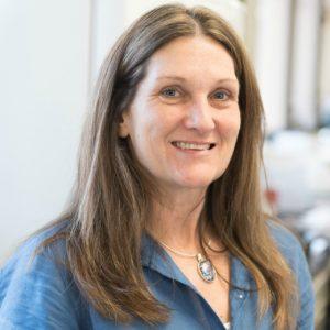 Dr. Sue VandeWoude in her lab at CSU