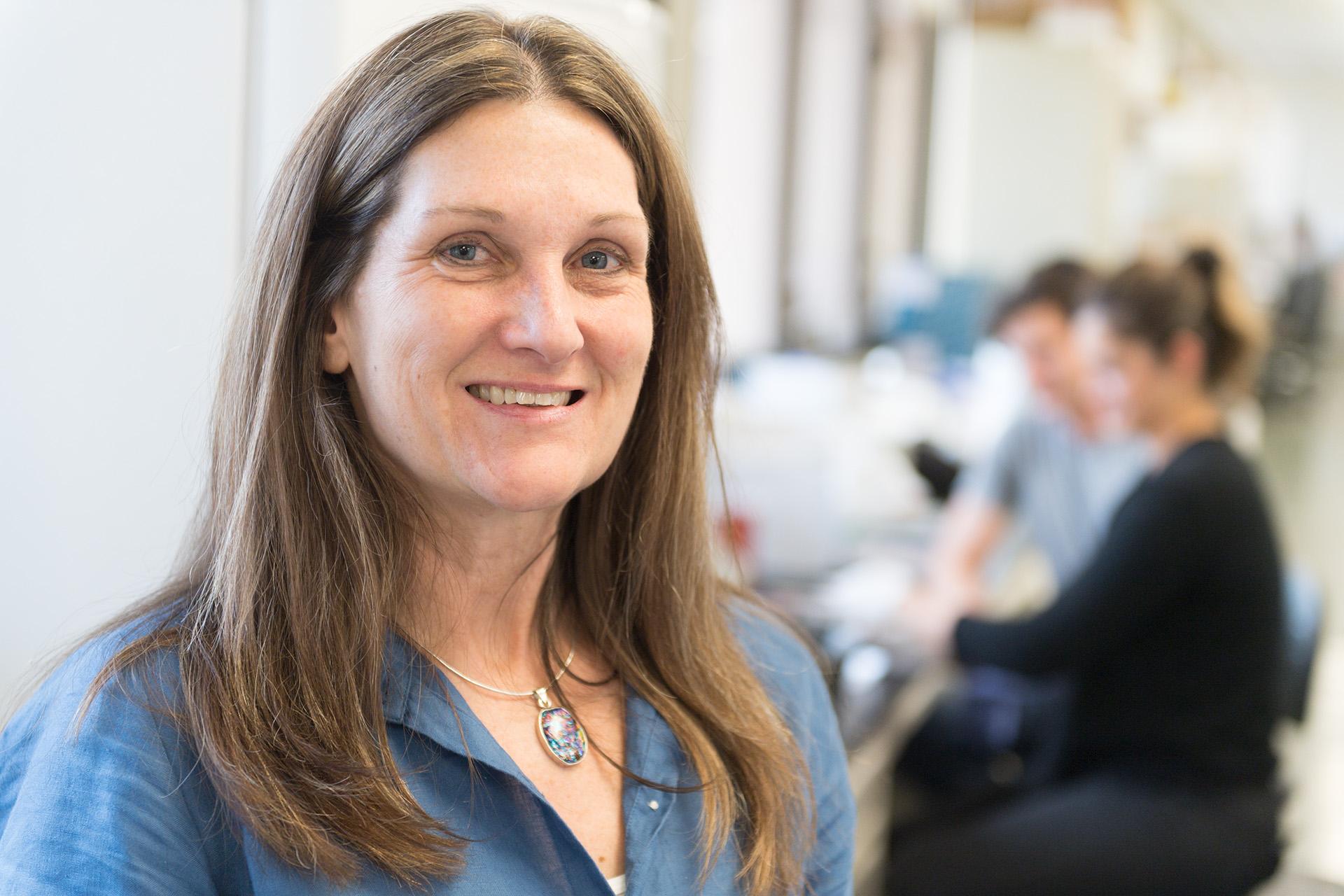 Dr. Sue VandeWoude, in her lab