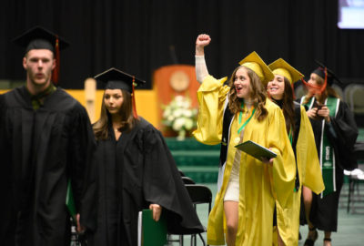Colorado State University Warner College of Natural Resources graduates are celebrated at the Fall 2019 Commencement Ceremony, December 21, 2019, in the Moby Arena.