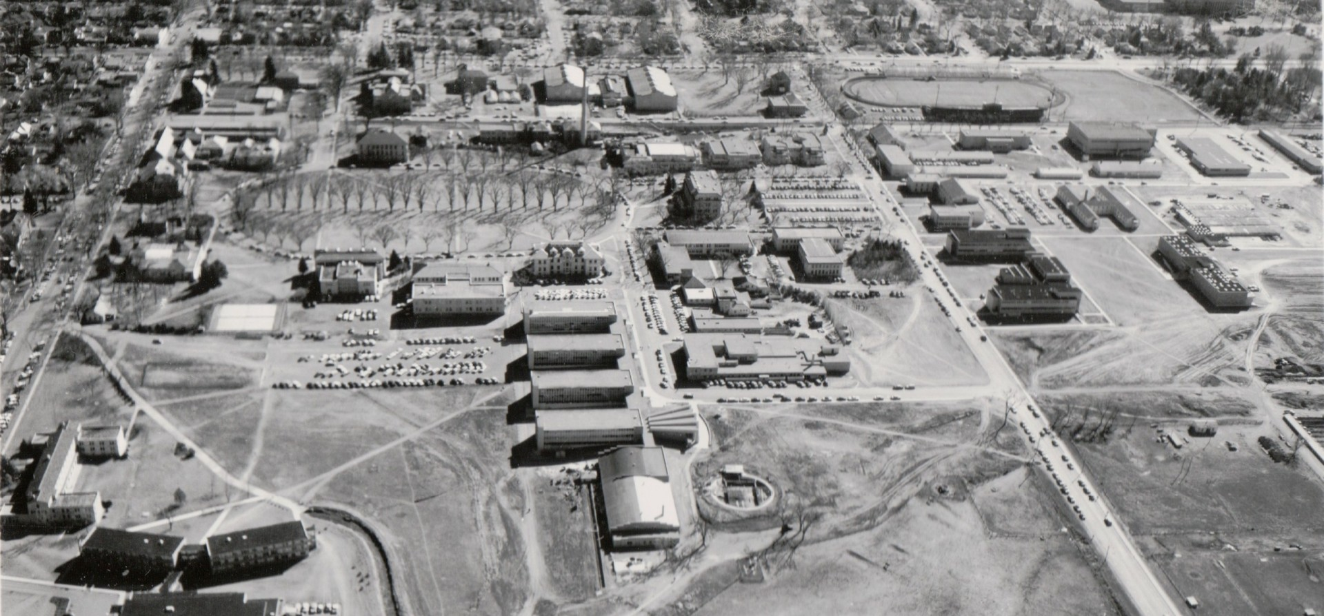 Aerial map of campus, 1960