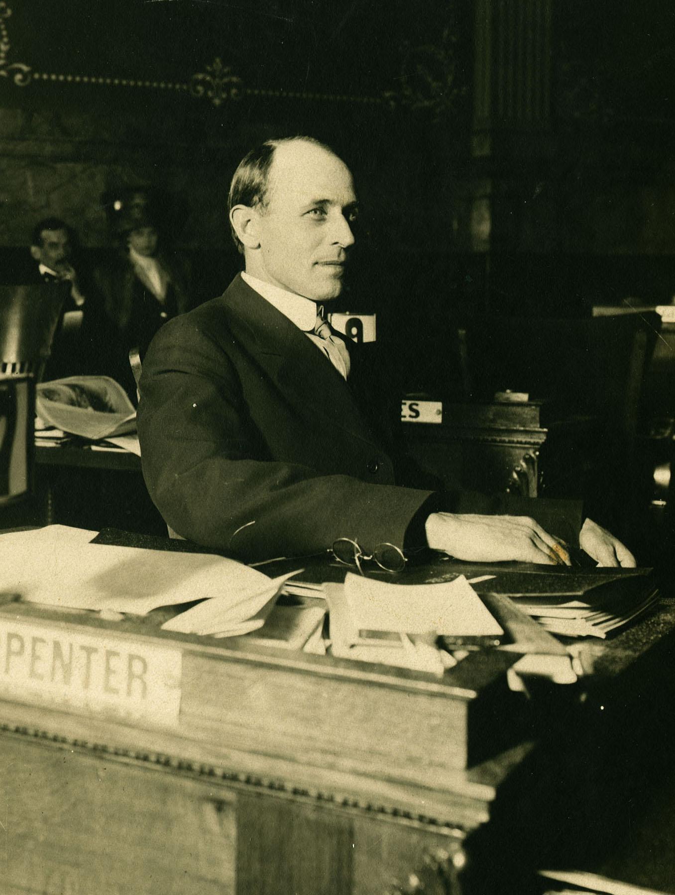 Delph Carpenter in State Senate, 1911