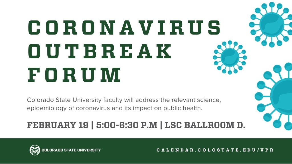 banner for a forum at CSU to talk about the coronavirus forum