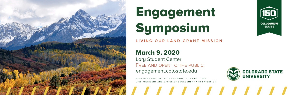 Engagement Symposium, Living our Land-Grant Mission, March 9