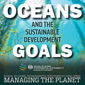 poster for Oceans and Sustainable Development Goals panel discussion