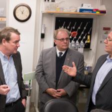 U.S. Senator Michael Bennet tours training mock lab at CSU