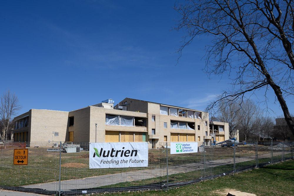 Nutrien building under construction