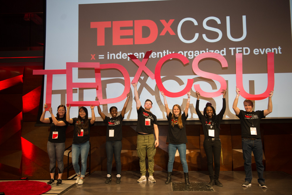 Students at TEDxCSU