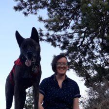 ThersaBarosh and dog